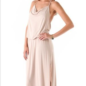 Lanston Drape Racer Back Maxi Dress in Blush